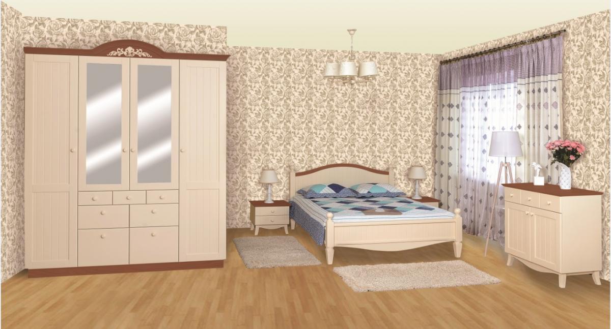 Спальня из дерева в стиле Прованс Шато (возможна покраска по РАЛ)