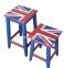 Табурет барный в английском стиле Union Jack ВВ SS003716  0