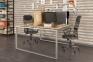 Сдвоенный стильный стол на два рабочих места Q140 0