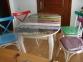 Комплект обеденный стол и 4 стула, стол - ножки дерево, 75*130(160) лм 0