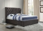 Кровать двуспальная 1,6 Империя (ткань светлый или темный мокко) кд 0