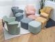 Кресло мягкое Элин пластик, ткань, Пуф Элин ткань ом 3