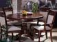 стол обеденный Анжелика V 1060 деревянный раскладной каштан КД 1