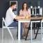 Складной стул Силла SLIM деревянный, итальянский дизайн BOOK WOOD WHITE 0