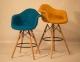 Кресло, стул барный Leon (Леон) Soft Шерсть (желтый, серый, зеленый, бирюза, синий) ом 3