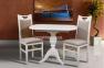 Стіл обідній розкладний Тріумф білий, стол раскладной Триумф белый (авангард)  1