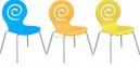 Стул Лев, деревянный, гнутая фанера, цвет синий, желтый, оранжевый, белый, для баров, кафе 6