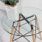 Стол обеденный Имз, стеклянный, ножки дерево, диаметр 80 см 0