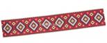 скатертина гобеленова Карпатські мотиви (синій, червоний) 8