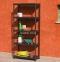 Универсальный стеллаж, этажерка на 5 полок Universal, черный,  четыре размера 5
