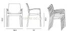 Стул CREAM higlopp, полипропилен глянец 58x51 H82 см 6
