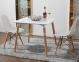 Стол обеденный Нури, деревянный, бук, 80х80 см, цвет белый, черный 3