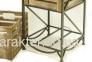 Этажерка кованная на 2 ящика мягкий верх, Диван (этажерка) с двумя ящиками 1