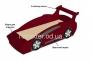Детская кровать-машинка Спорткар шс 2