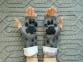 Митенки (перчатки без пальцев) ручной работы высокие Рысь 2