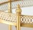 Стол сервировочный на колесиках Гастон металл золото h77см w40см ГП1015848 3