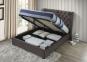 Кровать двуспальная 1,6 Империя (ткань светлый или темный мокко) кд 5
