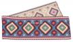 скатертина гобеленова Карпатські мотиви (синій, червоний) 4
