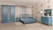 Кровать из дерева в стиле Прованс Кантри РБК с перекрестом на спинках 140/160/180 1