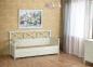 Кровать-диванчик из дерева в стиле Прованс Кантри РБК с перекрестом на спинке 0