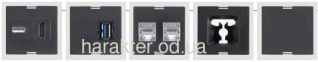 розетка скрытого монтажа для кухни офиса, Блок розеток EVOline FlipTop Push 3x220 2