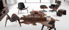 Кресло Relax с оттоманкой черный, Кресло Релакс с оттоманкой, натуральная кожа, гнутая фанера 2