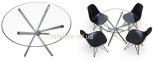 Стол обеденный Тог, стеклянный, металл, диаметр 90 см мдс 0