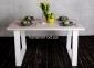 Стол деревянный прямоугольный ЦЕ TRAPEZE ELM/ ЦЕ TRAPEZ WHITE 1