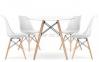 Стол обеденный Тауэр Вуд, дерево, бук, диаметр 100 см, диаметр 120 см цвет белый 2