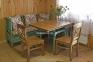 Обеденный стол-книжка в стиле Прованс, Классика РБК деревянный с покраской в любой цвет 0