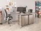 Сдвоенный стильный стол на два рабочих места Q140 2