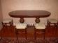 Стол деревянный Фантом овальный, раскладной рбк 3