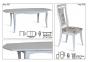 Стол раскладной деревянный Маркиз белый, слоновая кость (белый)  МФ 1