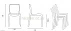 Стул Femme Fatale поликарбонат дизайнерский 53x54 H81см 4
