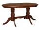 стол обеденный Анжелика V 1500 раскладной деревянный, цвет каштан КД 0