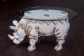 Стол журнальный в виде животного Носорог из натурального дерева крк 0