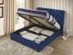 Кровать двуспальная 1,6 Империя (ткань светлый или темный мокко) кд 4