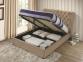Кровать двуспальная 1,6 Империя (ткань светлый или темный мокко) кд 2