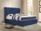 Кровать двуспальная 1,6 Империя (ткань светлый или темный мокко) кд 1