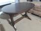 Стол обеденный Закарпатье (Простой) деревянный, раскладной, орех темный 0