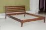 Двоспальне ліжко Челсі, дерево горіх лісовий, горіх темний мм 3