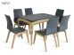 Стол обеденный раскладной деревянный Navi стіл МФ каркас бук, столешница МДФ 8