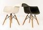 Кресло Leon (Леон) пластик (белый, антрацит, серый, желтый, бежевый) ножки деревянные ом 4