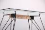 Стол обеденный Каттани черный/стекло прозрачное амф 2
