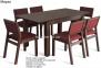 Комплект обеденный стол и стулья Марко белый (венге, орех) мф 3