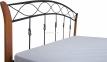 Кровать двуспальная металлическая Летиция Вуд ножки дерево кмм 1