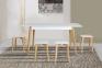 Стол раскладной, Стіл розкладний Сінгл (ясен) 130(+30)*80 мм 4