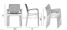Кресло дизайнерское GRUVYER полипропилен, цвет разный кн  16