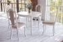 Стол деревянный Прованс круглый, раскладной с прямой или с козьей ногой рбк 1
