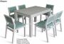 Комплект обеденный стол и стулья Марко белый (венге, орех) мф 0